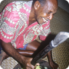 Pounding breadfruit – Motalava, Banks